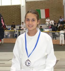 Gaia Tonelli sul terzo posto del podio