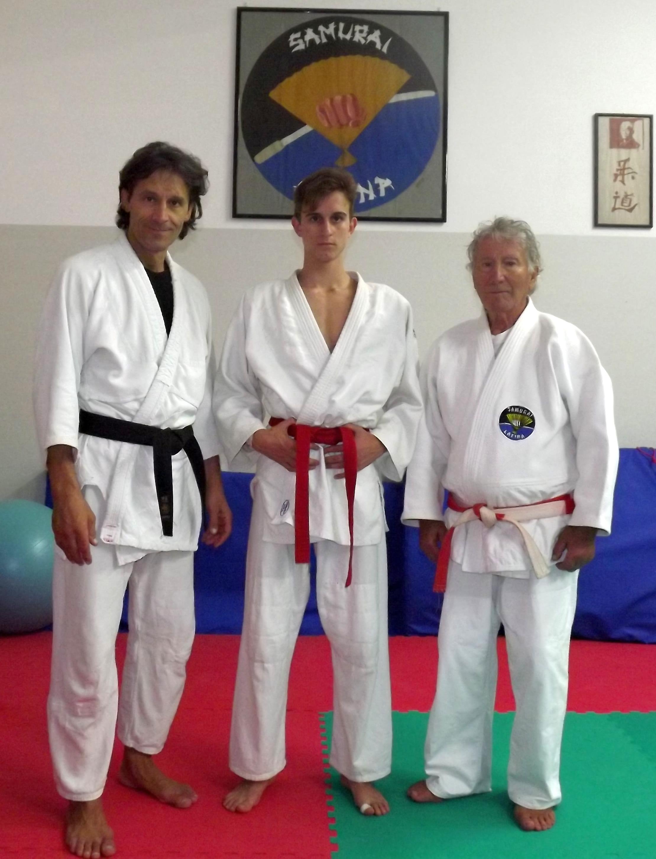 da sinistra Armando, Edoardo e Renato Argano (Samurai Latina - 11-10-2013)