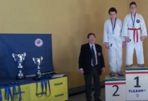 Alessandro Vargiu (Samurai Latina) 1° classificato nel 10° Trofeo Macaluso (Firenze, 26-1-2014)