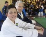 Luca Checchinato, terzo classificato, con il Maestro Renato Argano (Roma 9-2-2014)