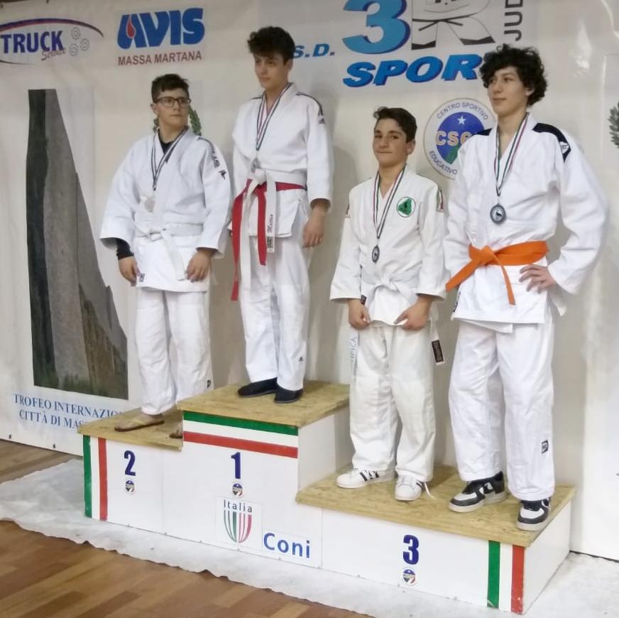Matteo Causio, oro, sul gradino più alto del podio [Todi, 13 gennaio2019]